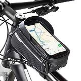 Velmia Rahmentasche Fahrrad/MTB, schwarz, mit Touch ID für Smartphones