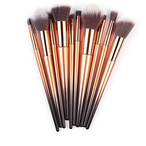 Dtuta 10 Make-Up-BüRsten Aus Weichen Fasern Sind Empfindlich Und Leicht Zu Tragen, Billig