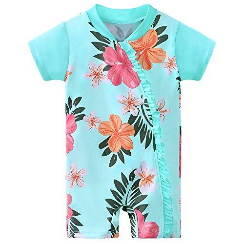 HUAANIUE Kinder Bademode Mädchen UV-Schutzkleidung Badeanzug Strand Sonnenschutz Kleidung