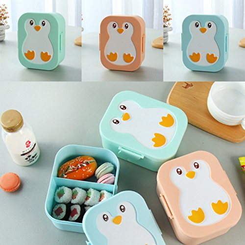 bureze Kunststoff Pinguin Bento Box Kids Lunch Box Food Container Mikrowelle - Pinguin Lunch-box