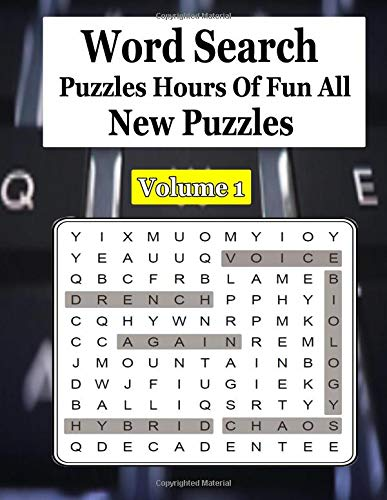 Word Search Puzzles Hours Of Fun All New Puzzles Volume 1: word search puzzles in a classic grid format, with answers at the back of the book. por ja kiw