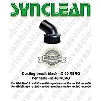 Accesorios Aspiradora Pincel diámetro 40negro Valido para Ghibli AS59–AS590–As400–synclean Maxiclean MX59–MX 590