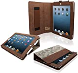 Snugg iPad 4 & iPad 3 Leather Case in Digital Camo - Flip Stand Cover with Elastic Hand Strap and Premium Nubuck Fibre Interior - Automatically Wakes and Puts the Apple iPad 4 & 3 to Sleep