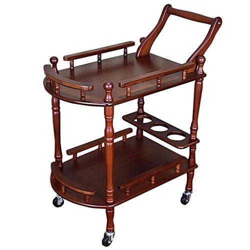 MC Regal Laufkatze - Schönheits-Salon-Laufkatzen-Werkzeugwagen-Tisch-bewegliches Lagerregal-Gestell Kinderwagenständer (Color : Brown, Size : 60 * 40 * 76cm) (Salon-schönheit Tisch Für)
