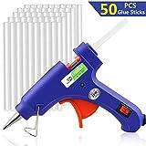 Minipistola de silicona de WisFox; eléctrica, con 50 barritas de silicona,...