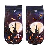 LnLyin Damen Socke Herren Socke Unisex Socke Halloween Material Socken Neue 3D Gedruckte Socken