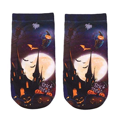 LnLyin Damen Socke Herren Socke Unisex Socke Halloween Material Socken 3D Gedruckte ()