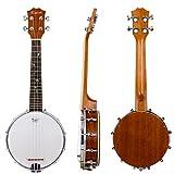 Kmise Banjo-Ukulele mit 4Saiten für Konzerte, 58,4cm, aus Sapeli-Holz Concert 23 inch MI2099