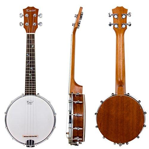 Kmise Banjo Ukulele 4 Saiten Konzert Banjo Sapele Holz Aquila Saiten mit schön Blume Abalone Punkte