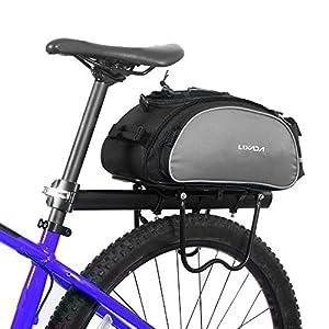 Lixada Bolsa Alforja Trasera para Bicicleta 13L Multifuncional