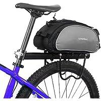 Lixada 13L multifunktionale Fahrrad Tasche Pannier Rücksitz Tasche Handtasche Umhängetasche(keinen Gürtel)
