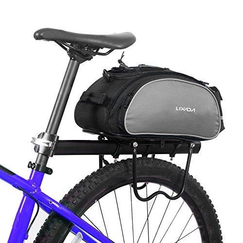 Lixada 13L multifunktionale Fahrrad Tasche Pannier Rücksitz Tasche Handtasche Umhängetasche(ohne Gürtel) (Fahrrad-handtasche)