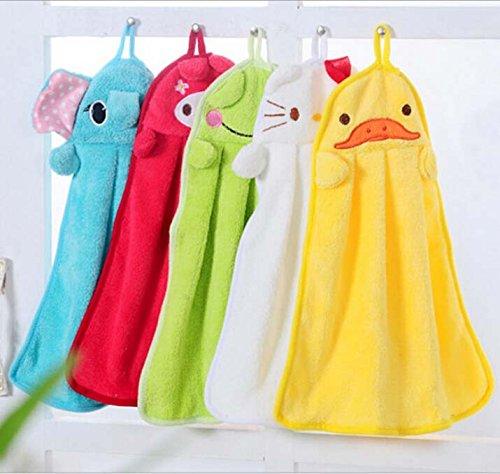 SwirlColor 2x Cartoon Coral Fleece Hanging Handtuch