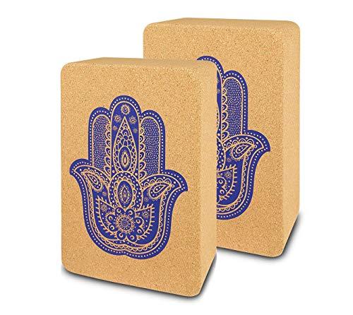 Yogablock 2 Stück | Yoga Blöcke aus Kork 2er Set Hatha Yoga Klotz ökologisch nachhaltig