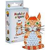 Origami modular, juego de 382 piezas de papel, gato pequeño, multicolor