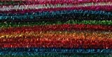 Chenille-Draht-Farbenmix Glitter 8 mm 24 Stück