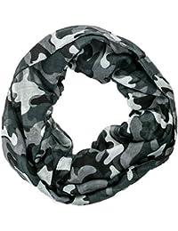 Gadzo Damen Loop schal camouflage Schlauchschal Rundschal LoopC