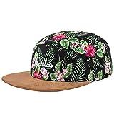 Blackskies Oahu 5-Panel Cap Damen Herren Baseball Mütze Kappe Blumen Floral Suede Grün