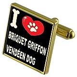 Select Gifts Ich liebe meinen Hund Gold-Tone Manschettenknöpfe & Geld Clip-Briketts Griffon Vendéen