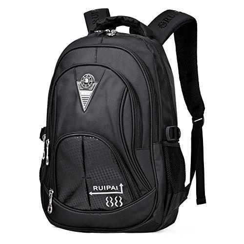 Imagen de vbiger niños  bolsa viaje  escuela con correas ajustables negro 2  alternativa