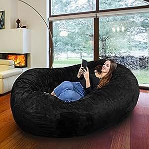 riesiger giga sitzsack mit memory schaumstoff f llung und waschbarem velour bezug gem tliches. Black Bedroom Furniture Sets. Home Design Ideas