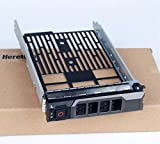 "Heretom - Vassoio per Disco Rigido SAS SATA da 3,5"" HDD Tray Caddy per Dell PowerEdge Server T440 T640 R330 R430 T430 R530 R630 T630 R730 R730xd R830 R930 and more - Hot Swap Staffa"