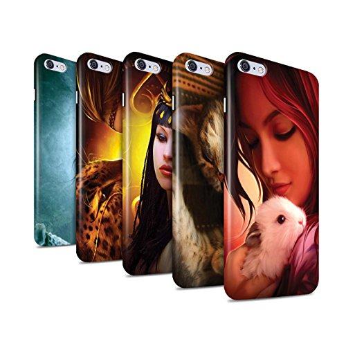 Officiel Elena Dudina Coque / Clipser Brillant Etui pour Apple iPhone 6+/Plus 5.5 / Le Brave/Chaton Design / Les Animaux Collection Pack 16pcs