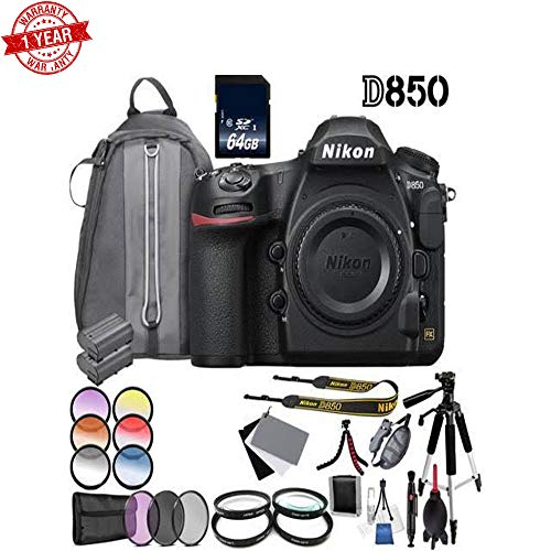 Nikon D850 DSLR Camera (Body Only) + Additional Accessories Bundle