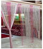 Ramcha String Curtain With Silver Lining...