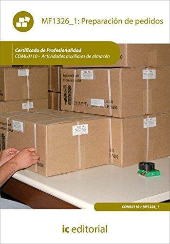 Portada del libro Preparación de pedidos. coml0110 - actividades auxiliares de almacén