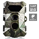 Favoto Wildkamera 16MP 1080P Full HD Jagdkamera bis 20M Nachtsichtkamera IP66 Wasserdicht für Outdoor-Natur, Garten, Haussicherheitsüberwachung Bewegungsmelder Fotofalle(PDF DE Anleitung)