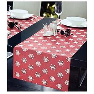 Chemin de table jacquard lot de 45 x 150 cm rouge