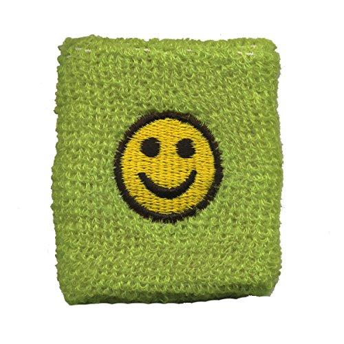 """Freak Scene® Schweißband """"Smiley"""" Pulswärmer°Frottee°Smily°Smilie°Lachgesicht, Farbe: grün"""