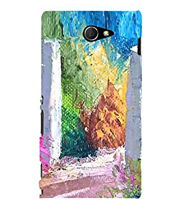 Colourful Painting 3D Hard Polycarbonate Designer Back Case Cover for Sony Xperia M2 Dual :: Sony Xperia M2 Dual D2302