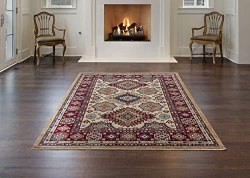 Mynes home - tappeto morbido per soggiorno, cucina, camera da letto, pavimento, colore: panna, off-white, 80x150