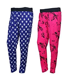 IndiWeaves Cotton Printed Lower/Track Pants/Pyjama for Women(Pack of 2)