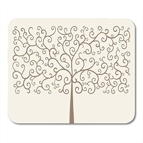 Mauspads Botanik-Grün-Stammbaum-organisches Wachstum-surreales Herbst-Allegorie-Mausunterlage für Notizbücher, Tischrechnermatten Büroartikel 10x12 Zoll