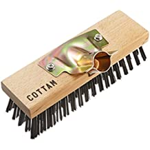 Steel Wire Broom Brush Head 9-Inch Heavy Duty Tough Wire, With Socket to Suit 28.5-MM Handle