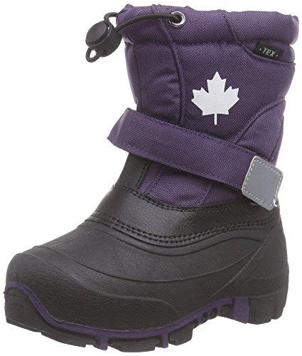 Canadians 467 185, Bottes de neige de hauteur moyenne, doublure chaude fille Violet - Violett (Aubergine 848)