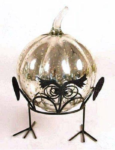 Madhu's COLLECTION - MG Décor MG Decor Madhus Collection Christbaumschmuck/Deko-Anstecker, Kürbis, Spinne in einem drahtgebundenen Nest in Geschenkbox, 8 cm (Kürbis-ball Ornament)