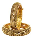 Muchmore Gold Plated Polki Bangle Set Fo...