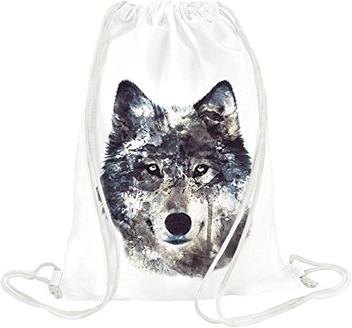 wolf-illustration-drawstring-bag