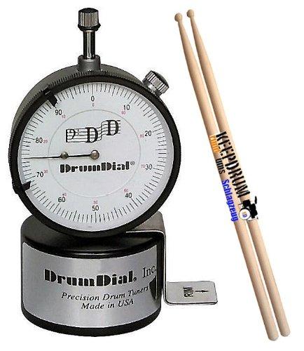 DRUM DIAL Drumdial Tuner / Stimmgerät + Keepdrum 5A Hickory Drumsticks 1 Paar GRATIS!