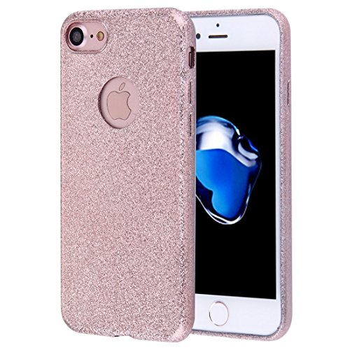 iPhone Case Cover Pour iPhone 7 Glitter Poudre TPU Étui de protection ( Color : Grey ) Rose gold