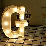 Yaeer creativo alfabeto Maquee notte lampada romantica luci LED Sign casa festa di nozze decorazione illuminazione moderno G
