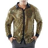 RWINDG Mode Herren Herbst Casual Shirts Langarm Shirt Hohle Shirt Top Fit T-Shirt Sport Oberteile Bluse Stylisch Tasten Tops Lange Ärmel Business Shirt Nähen Langarmshirt
