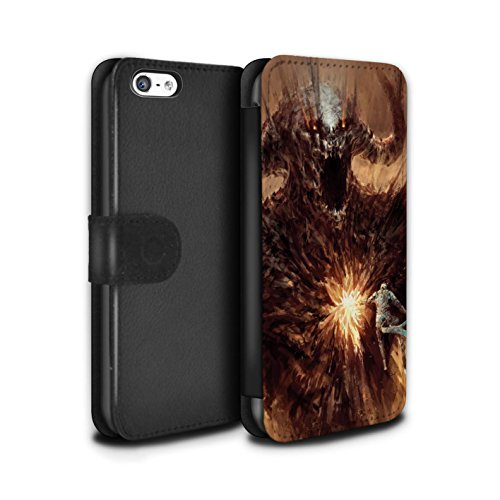 Offiziell Chris Cold PU-Leder Hülle/Case/Tasche/Cover für Apple iPhone 5C / Raubtier/Jäger Muster / Wilden Kreaturen Kollektion Herzensucher