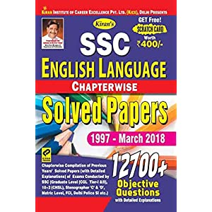 Kiran's SSC English Language Chapterwise Solved Papers 1997 March 2018 – 2259