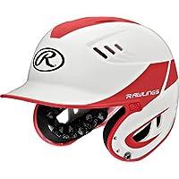 Rawlings artículos deportivos Junior casco R16hogar tamaño de béisbol, White Scarlet