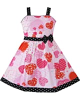 Sunny Fashion Filles Rose Cœur Imprimer Arc Attacher Partie